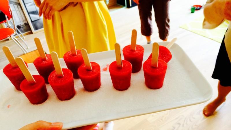 Raspberry Margarita Mini Ice Pops • Green Bonanza