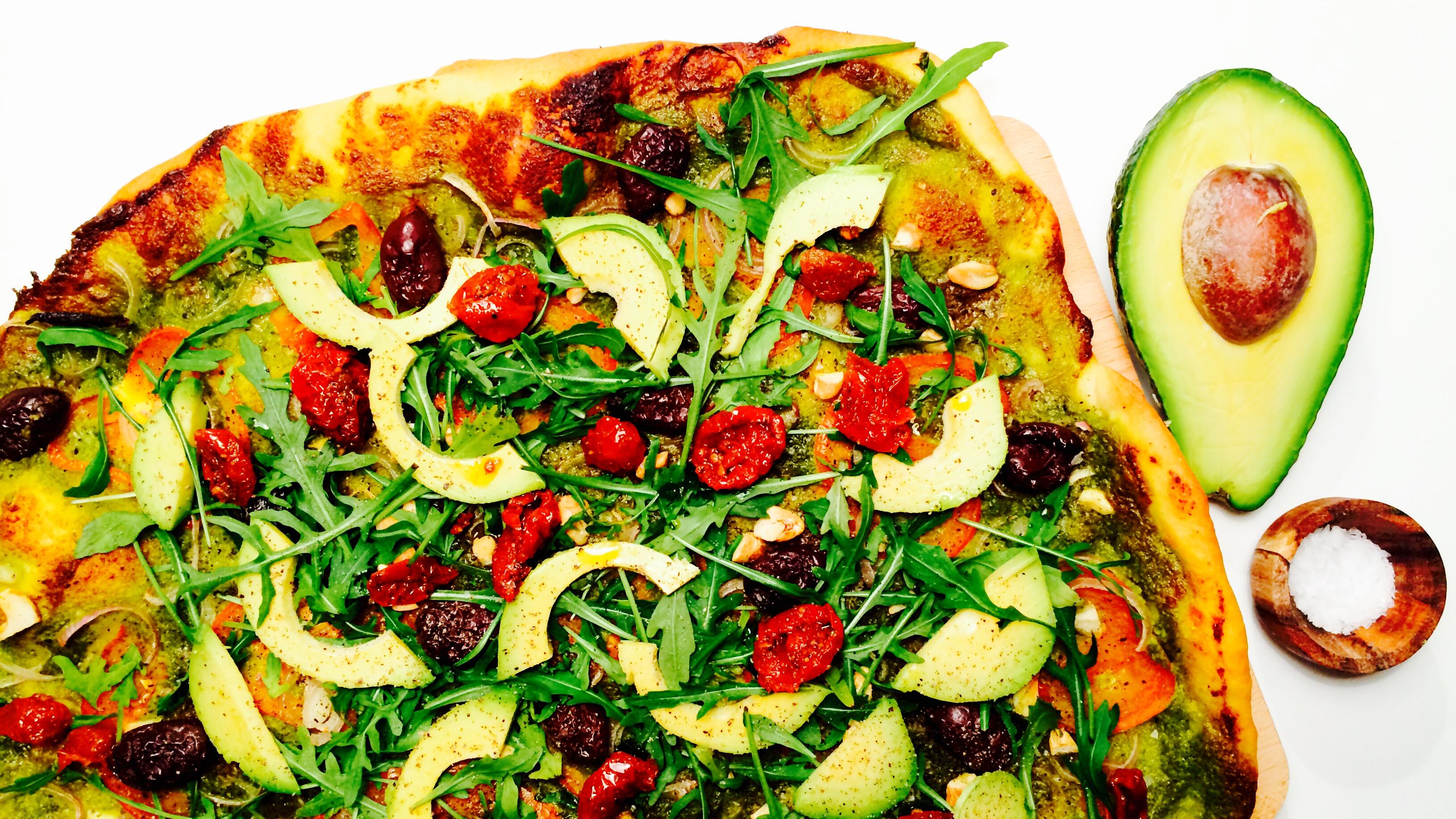 Vegansk pizza - Green Bonanza