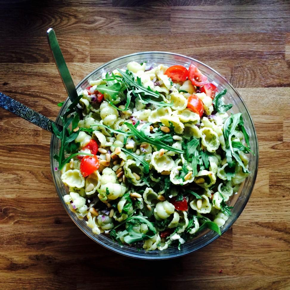 Pastasalat med grønn pesto - Green Bonanza