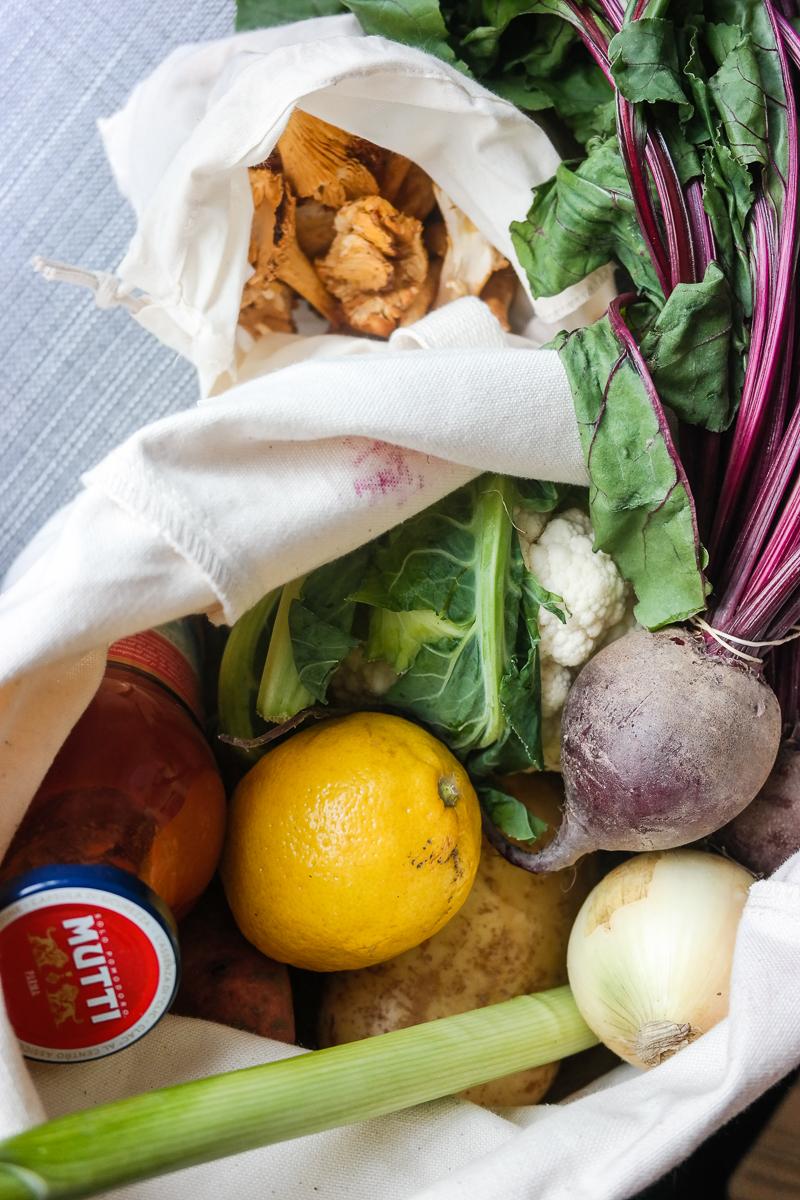 Hvordan ser handleturen og middagen ut om du gjør den fullstendig emballasjefri?