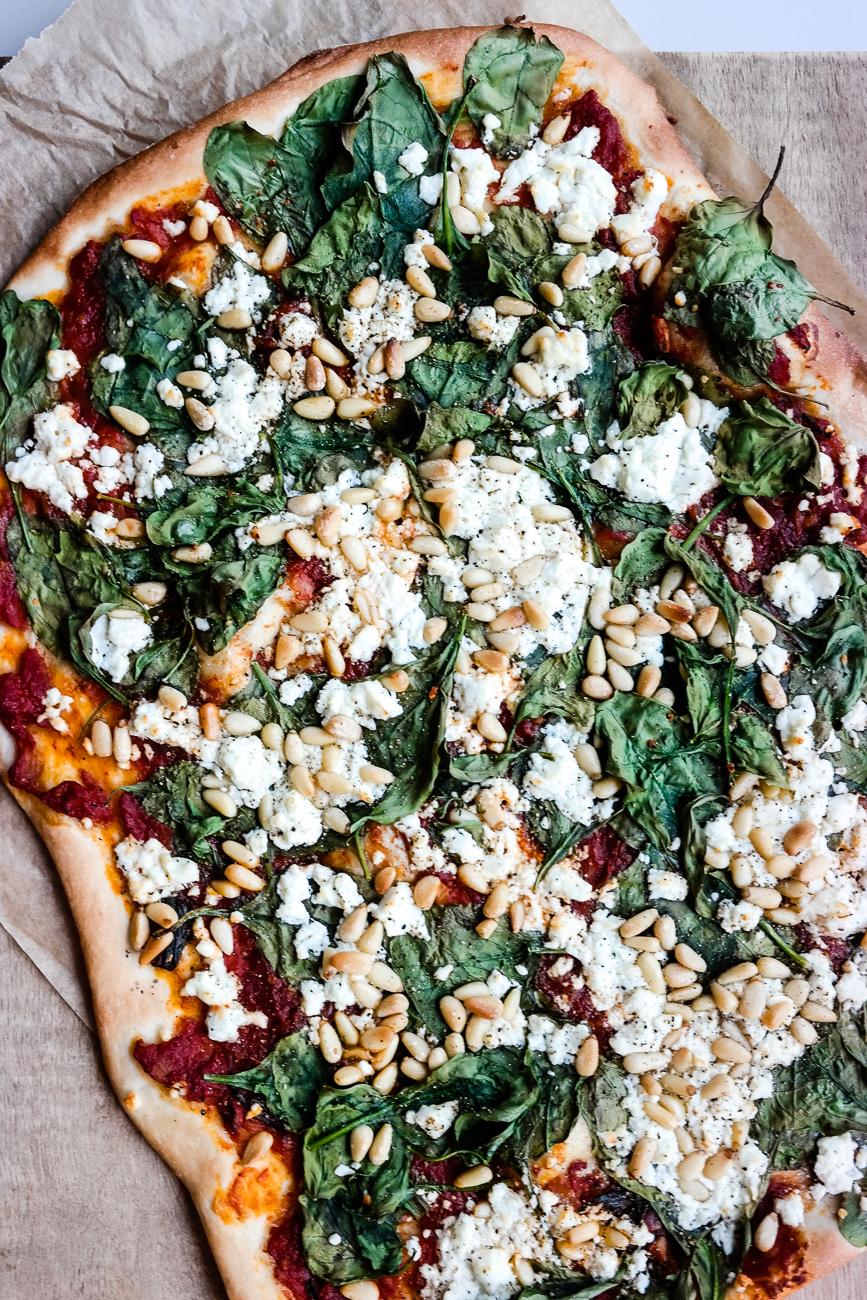 Pizzatime! Spinat og feta er en klassiker, am I right?