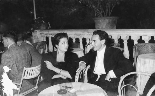 Marcella på sin første date med Victor, som hun senere giftet seg med.
