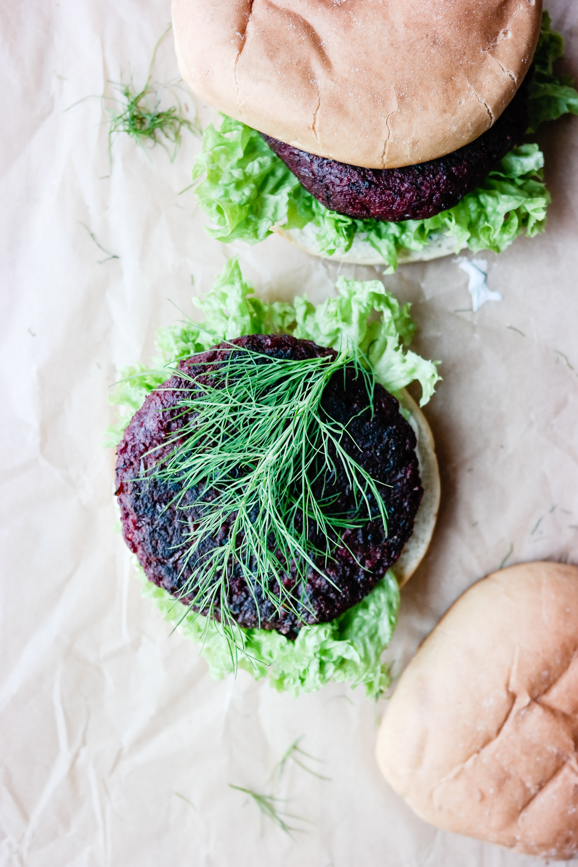 Finnes det en burger som har finere farge enn rødbeteburger? Tror ikke det.