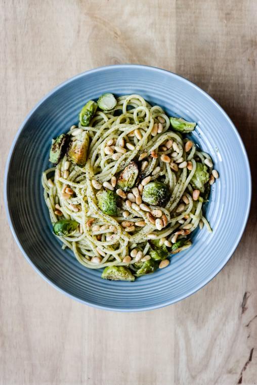De dagene det er vanskelig å vite hva man skal spise: Spis spaghetti med pesto.