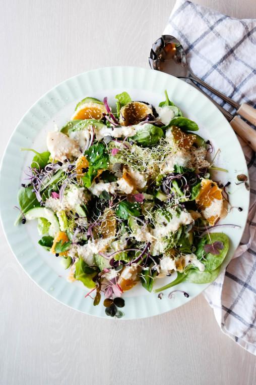 God, grønn salat til middag? Yes indeed!