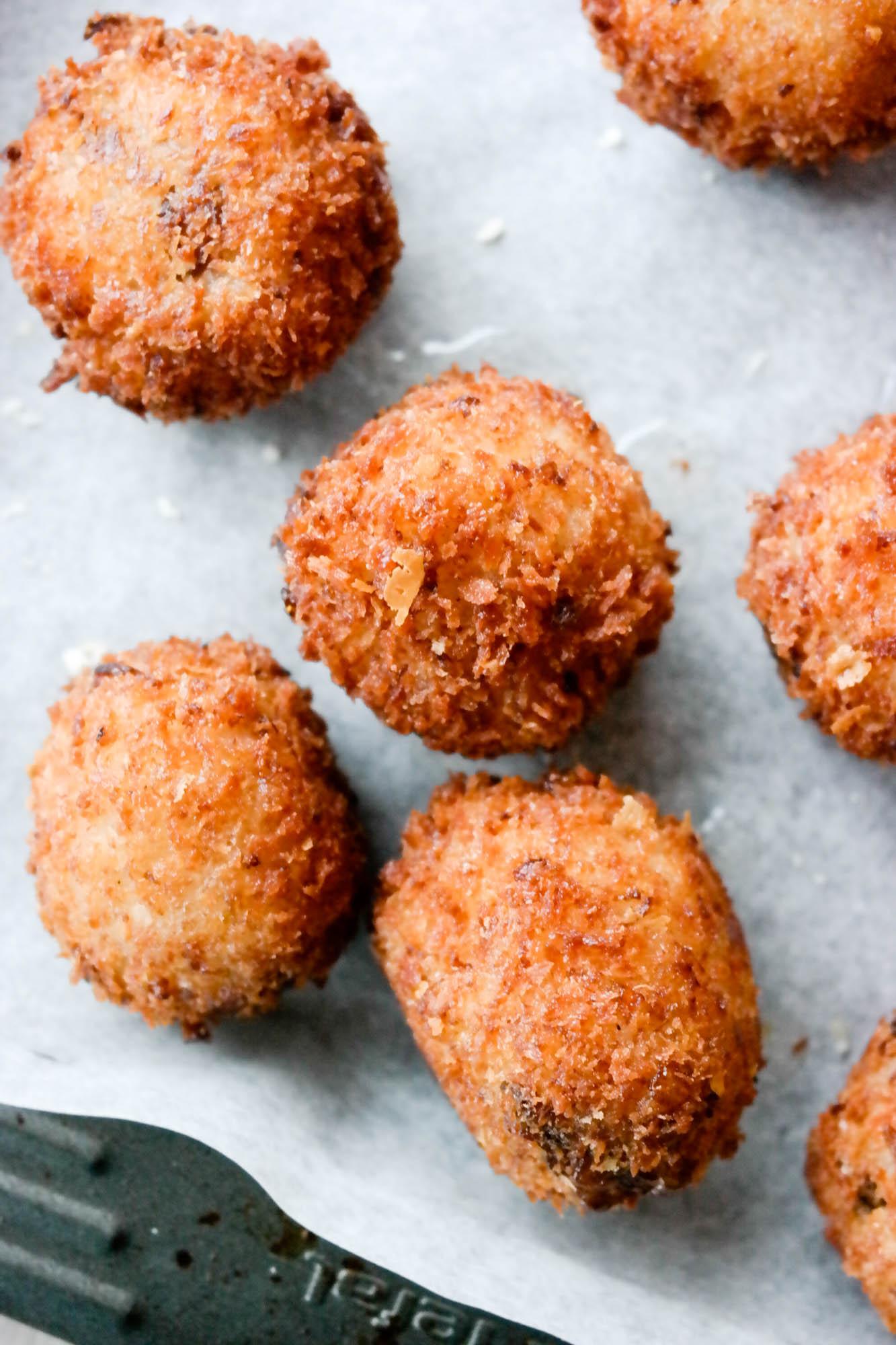 Her er en regel: Lag alltid dobbel mengde risotto, for arancini, friterte risottoboller, er verdens beste restemat!