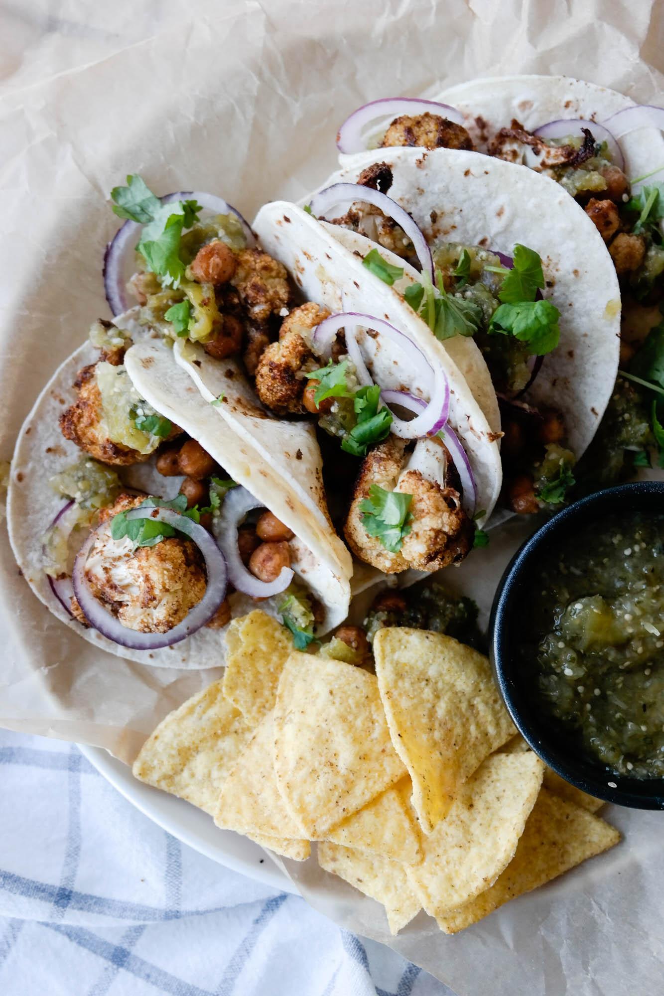 Blomkål i taco? Er det kødd? Niks. Ikke kødd.