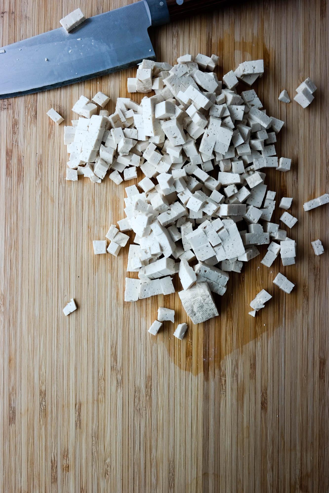 Salt, sprøstekt tofu