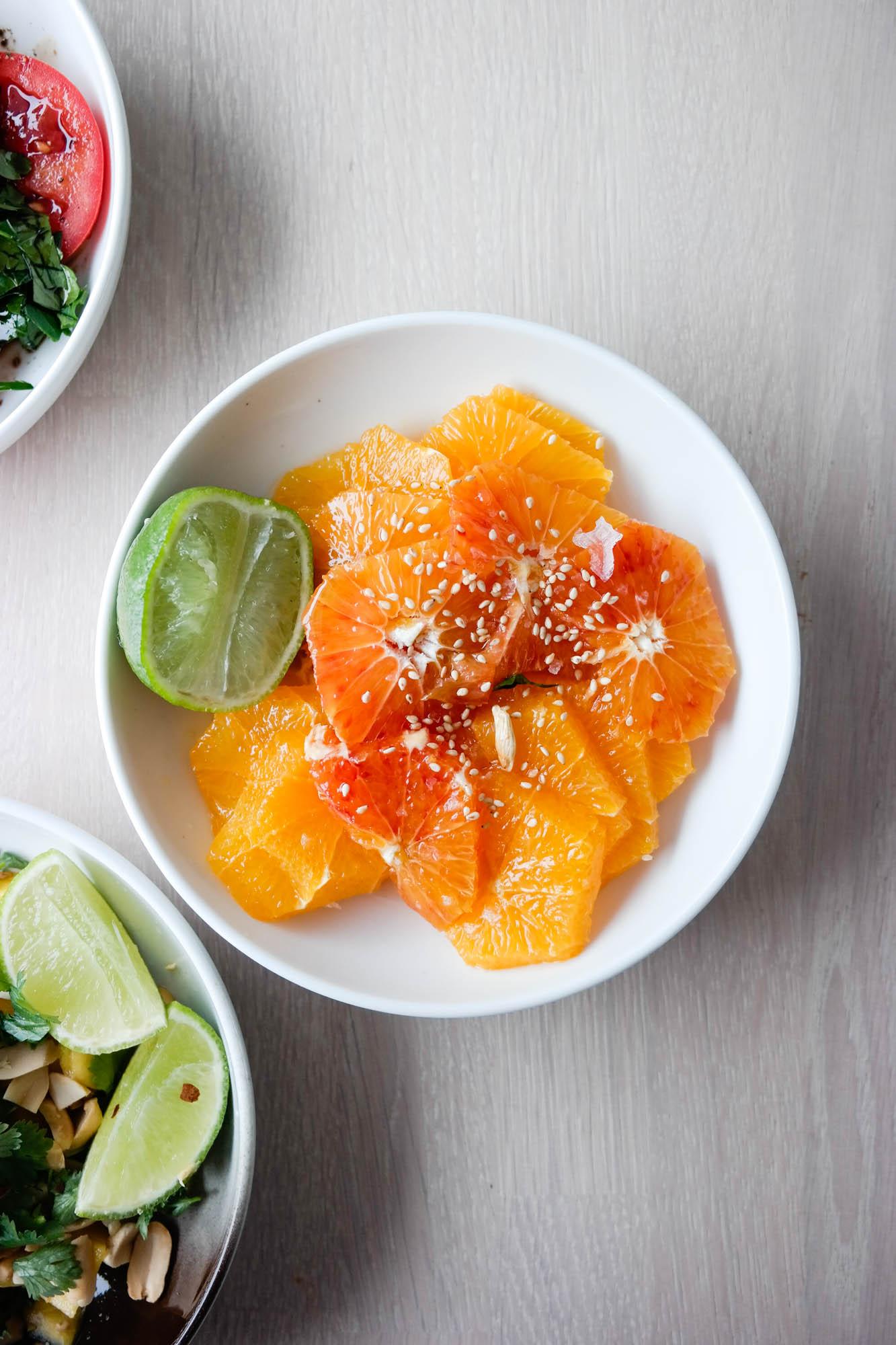 Appelsin, olivenolje, lønnesirup